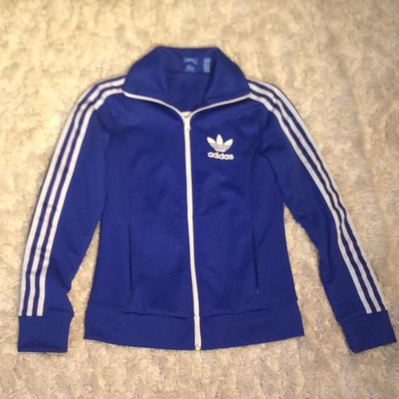 e1ce315671d adidas Jackets & Coats   Rare Vintage Blue Jacket   Poshmark